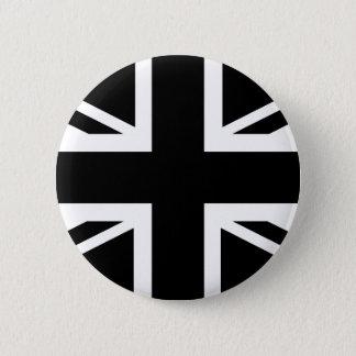黒い英国国旗のイギリスの(イギリスの)国旗 5.7CM 丸型バッジ
