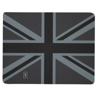 黒い英国国旗の旗のデザイン ポケットジャーナル