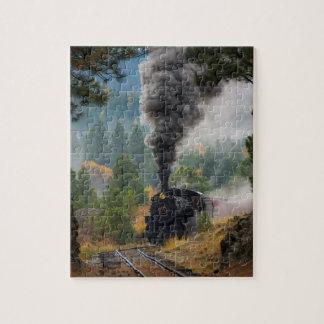 黒い蒸気機関 ジグソーパズル