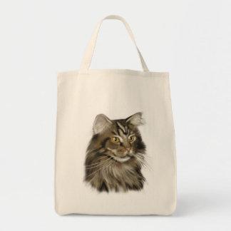黒い虎猫のメインのあらいぐま猫 トートバッグ