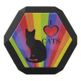 """黒い虹のプライド""""私は猫""""のBoombotのレックス愛します ブラックBluetoothスピーカー"""