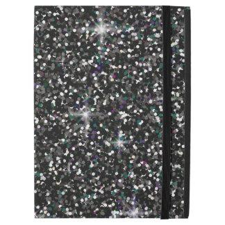 """黒い虹色のグリッター iPad PRO 12.9"""" ケース"""