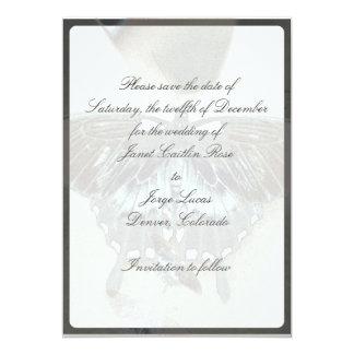 黒い蝶セーブ・ザ・デート案内 カード