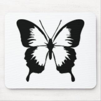 黒い蝶 マウスパッド