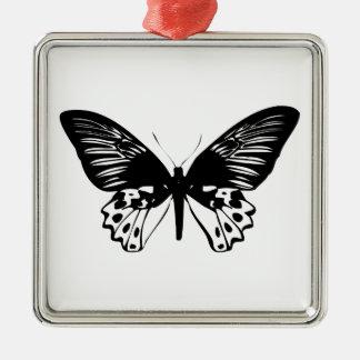 黒い蝶 メタルオーナメント