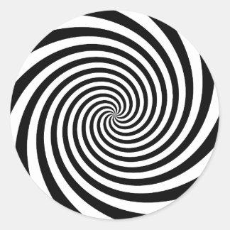 黒い螺線形 ラウンドシール