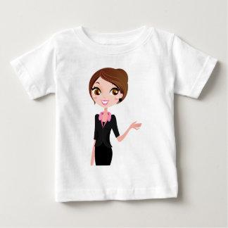 黒い衣裳の秘書の女の子 ベビーTシャツ