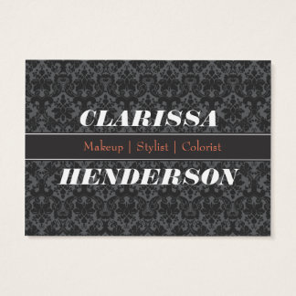 黒い装飾用のスタイリスト 名刺