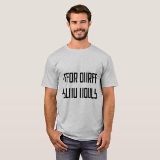黒い裸体/隠されたメッセージを送って下さい Tシャツ