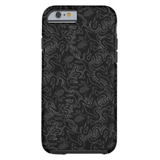 黒い視覚効果の深海のタコの黒 iPhone 6 タフケース