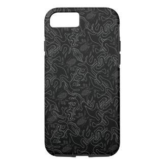黒い視覚効果の深海のタコの黒 iPhone 7ケース