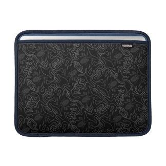 黒い視覚効果の深海のタコの黒 MacBook スリーブ
