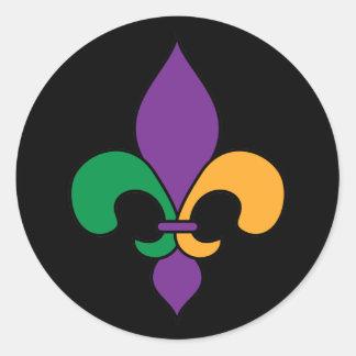 黒い謝肉祭の(紋章の)フラ・ダ・リのステッカー ラウンドシール