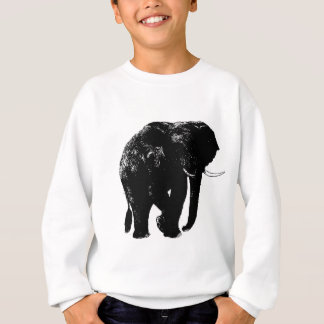 黒い象のシルエット スウェットシャツ