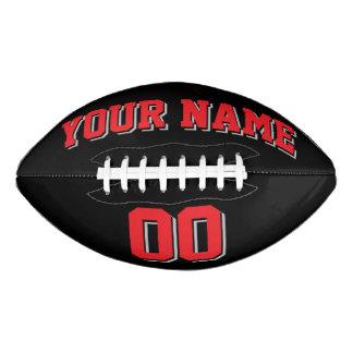 黒い赤いおよび銀製灰色の習慣のフットボール アメリカンフットボール
