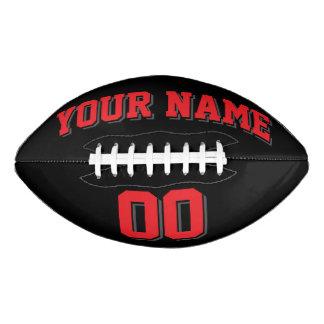 黒い赤およびチャコールグレーの習慣のフットボール アメリカンフットボール