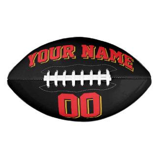 黒い赤および金ゴールドの習慣のフットボール アメリカンフットボール