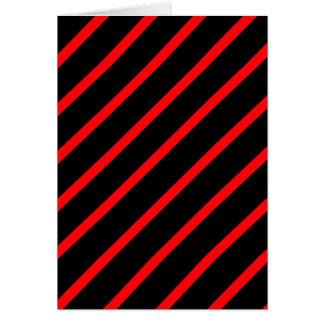 黒い赤のストライブ柄 カード