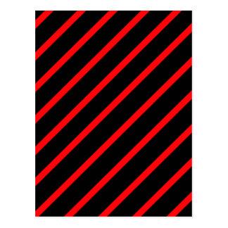 黒い赤のストライブ柄 ポストカード