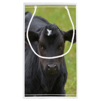 黒い赤ん坊の子牛 スモールペーパーバッグ