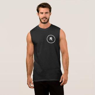 黒い超人の綿の袖なしのTシャツ 袖なしシャツ