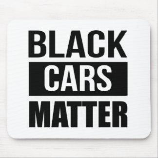 黒い車の問題-おもしろいなガレージ車の喜劇のユーモア マウスパッド
