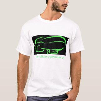 黒い軟式小型飛行船操作のTシャツ Tシャツ