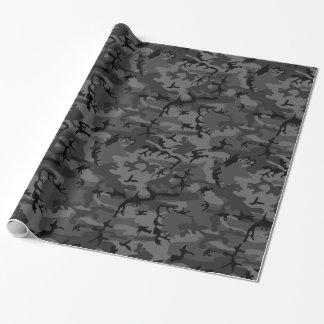 黒い迷彩柄 ラッピングペーパー