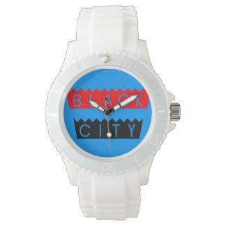 黒い都市腕時計 腕時計