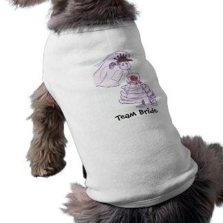 黒い野球帽の花嫁 犬用袖なしタンクトップ