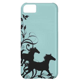 黒い野生の馬 iPhone5Cケース