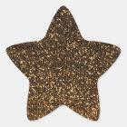 黒い金ゴールドのきらめくグリッター 星シール