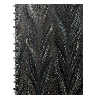 黒い金ゴールドの螺線形ビジネスノート ノートブック
