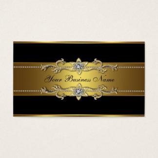 黒い金ゴールドの黒の名刺 名刺