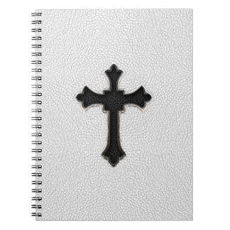 黒い金属の十字 ノートブック