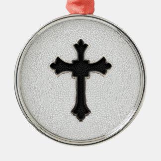 黒い金属の十字 メタルオーナメント