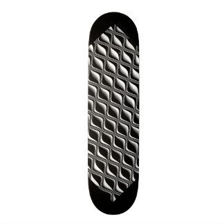 黒い金属の目の錯覚のカスタマイズ可能なデッキW3 スケートボードデッキ