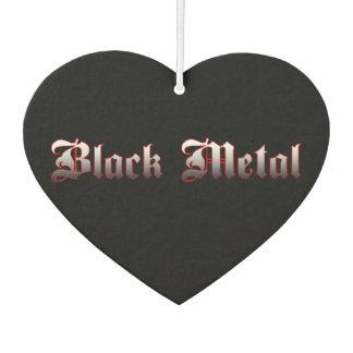 黒い金属の芳香剤 カーエアーフレッシュナー