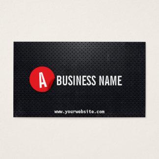 黒い金属の赤いラベルDJの音楽業界カード 名刺