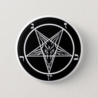 黒い金属のbaphometボタン-- 悪!! 5.7cm 丸型バッジ