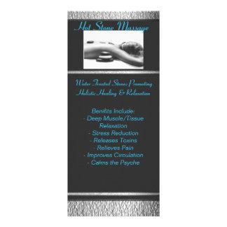 黒い金属のtn_Hot_Stone_Massage、熱い石… ラックカード