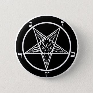 黒い金属、baphomet、暗闇の主! 5.7cm 丸型バッジ