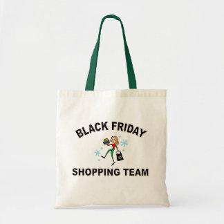 黒い金曜日のショッピングのチーム2 トートバッグ