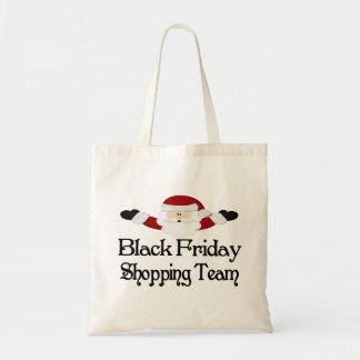 黒い金曜日のショッピングのチーム トートバッグ