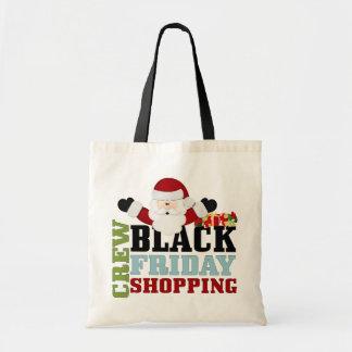 黒い金曜日のショッピングの乗組員 トートバッグ