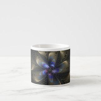 黒い銀はマグフラクタルの芸術のエスプレッソの螺線形になります エスプレッソカップ