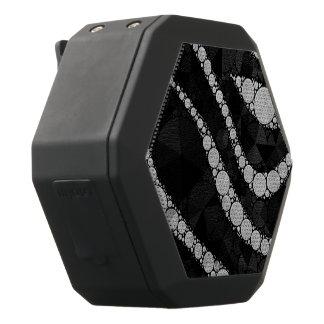 黒い銀製のシマウマの抽象芸術の質 ブラックBluetoothスピーカー