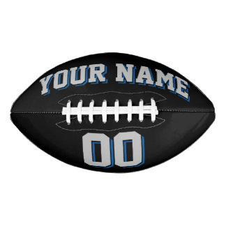 黒い銀製の灰色および青の習慣のフットボール アメリカンフットボール