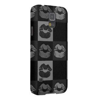 黒い銀製の粋な唇 GALAXY S5 ケース