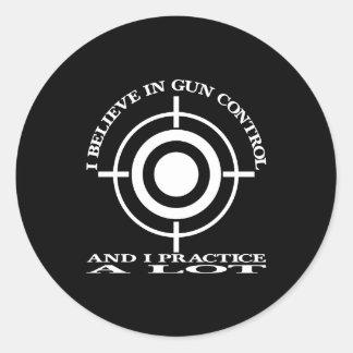 黒い銃砲規制の練習のロット ラウンドシール